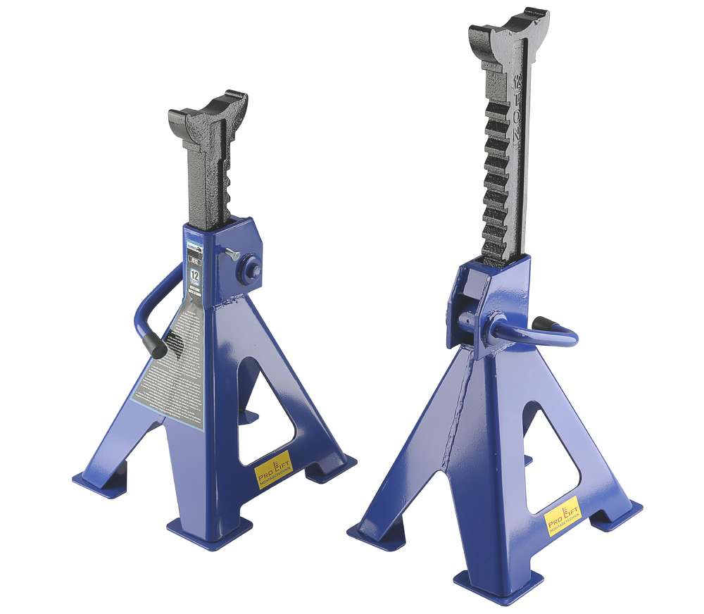 12t jack stand set, support jacks, 2x12t, height 465mm 725mm, 00157