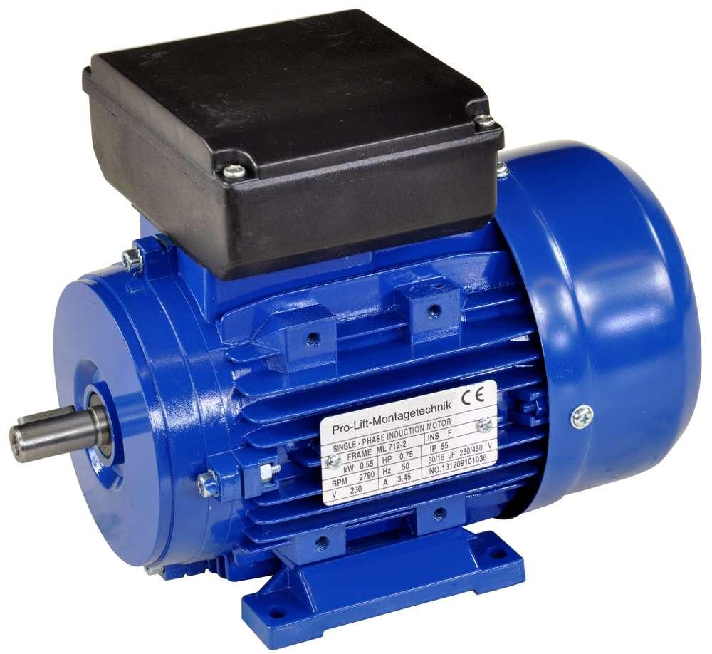 550W Elektromotor 230V 2790U//min 50Hz 0,55kW Wellendurchmesser 14mm 00386