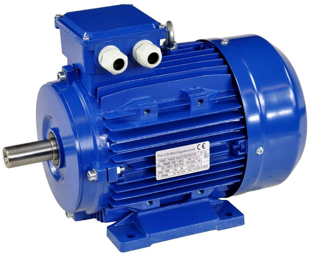 4kW Elektromotor 400//690V 1430U//min Passfeder 8mm IP55  B3-Ausführung 01638