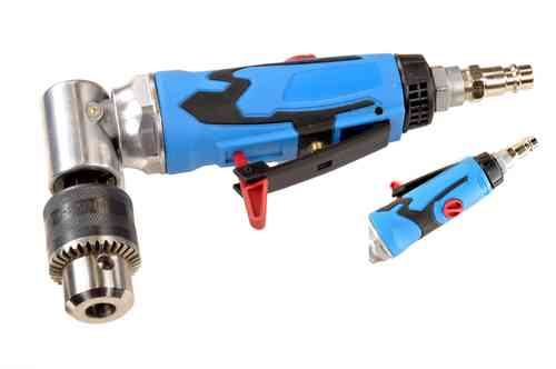 Compressed air angle drill, drill, 1-10mm chuck, Speedcontrol, W3053, 01197