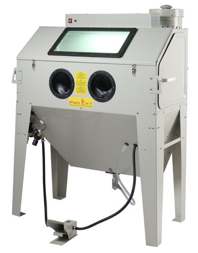 Sand blasting cabinet, 420 litres incl. accessoires, with extraction device, SB42AJ, 01559