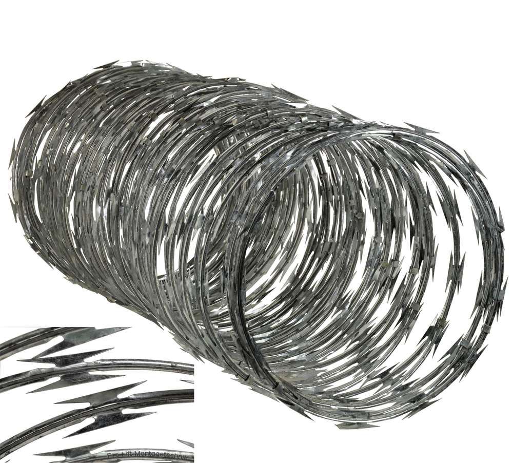 10m barbed wire, diameter 600mm, blade length 65mm, 01564 - Pro-Lift ...