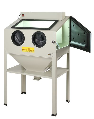 Sand blasting cabinet, 220 litres incl. accessoires, external lighting housing, SB22AJ, 01557