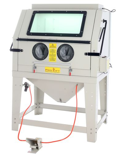 Sand blasting cabinet,990 litres incl. accessoires, with extraction device, SBC990AJ, 01650
