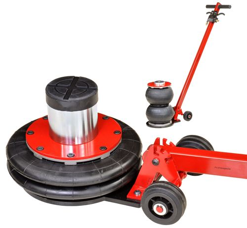 2t floor jack, garage jack, 2 air cushions, 115mm - 425mm, with pulling rod, T1812, 01699