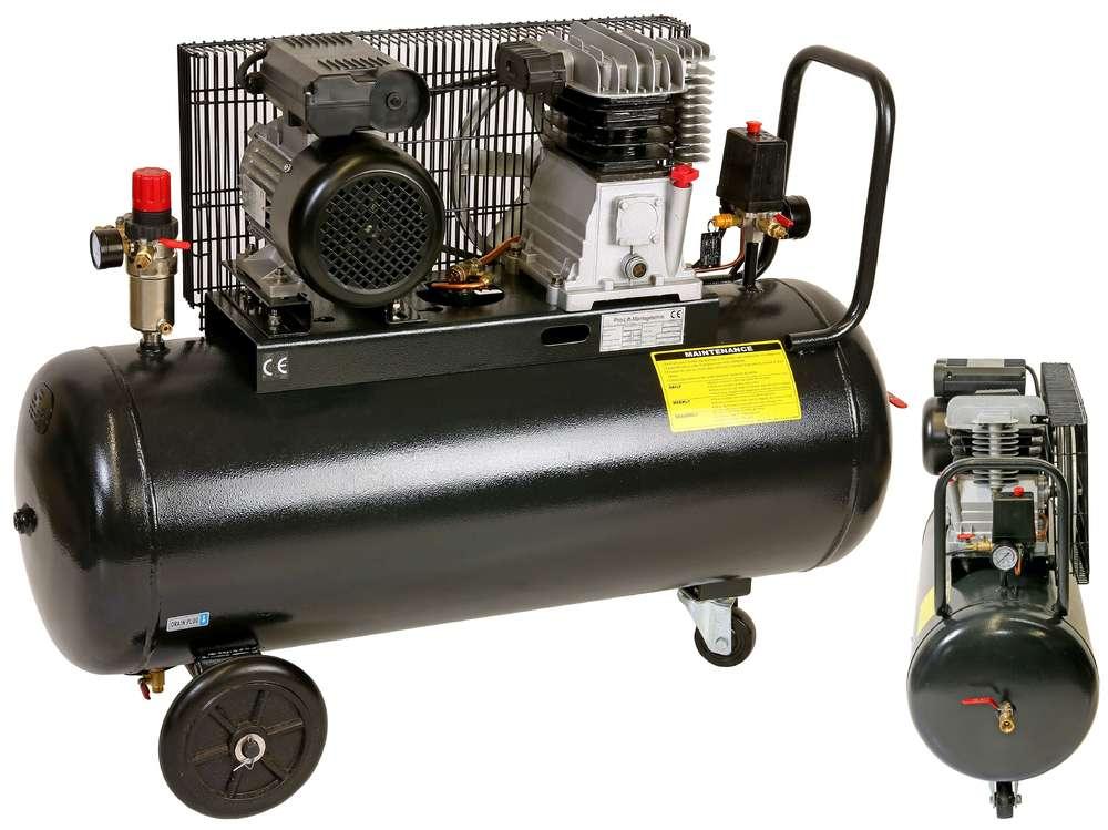 2,2kW Kompressor, 8 bar, 170 l/min, 230 V, 100l, Kessel, schwarz ...