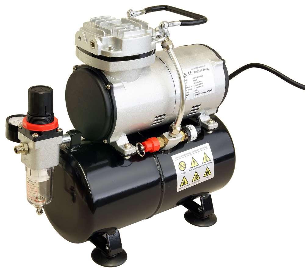 Airbrush Mini Kompressor 23l/min 4bar 3Liter Kessel 230V AS-186 ...