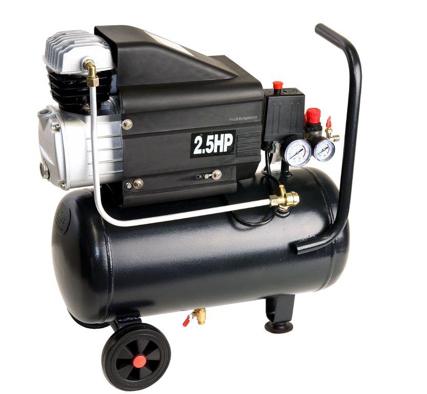 2kw lgeschmierter kompressor 8 bar 120 l min 230 v 24 liter kessel schwarz 01858 pro. Black Bedroom Furniture Sets. Home Design Ideas