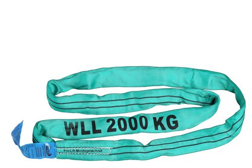 2t round sling, webbing sling, length 1m, green, RS21J, 02116