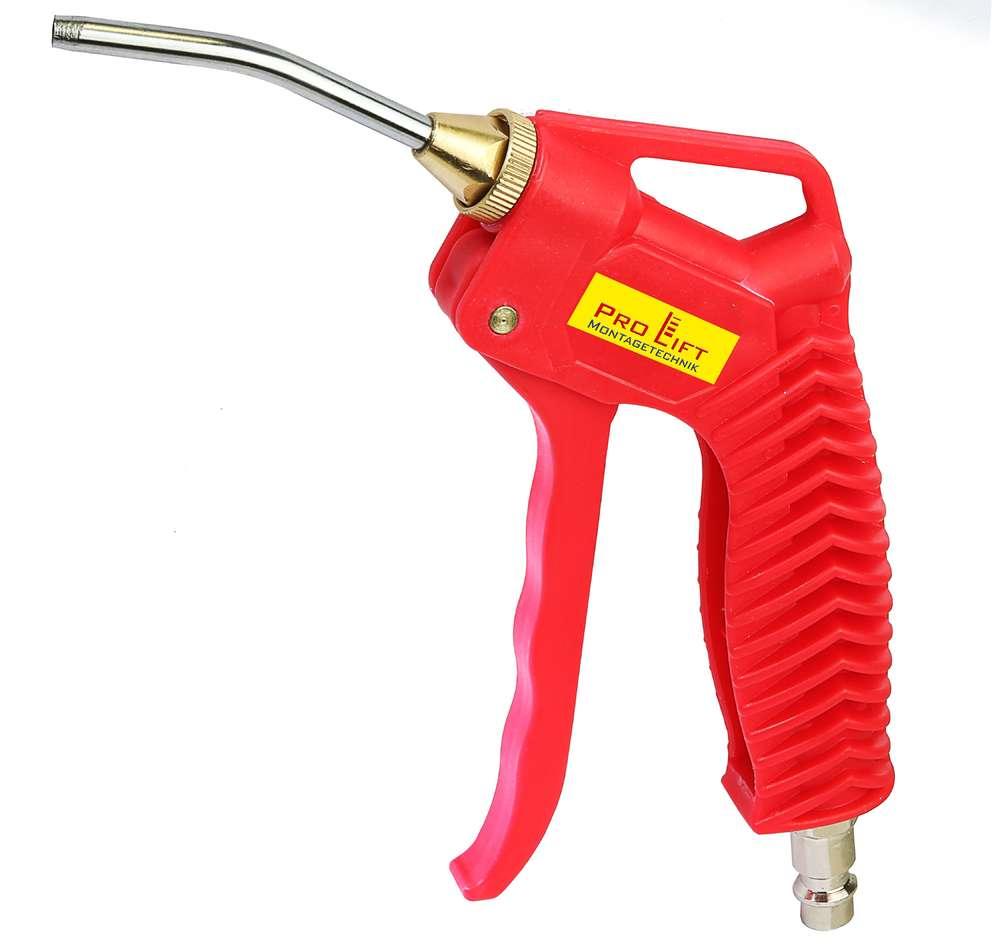 Druckluftpistole kurz 60mm roter Kunststoff Ausblaspistole AT-008CF 00184