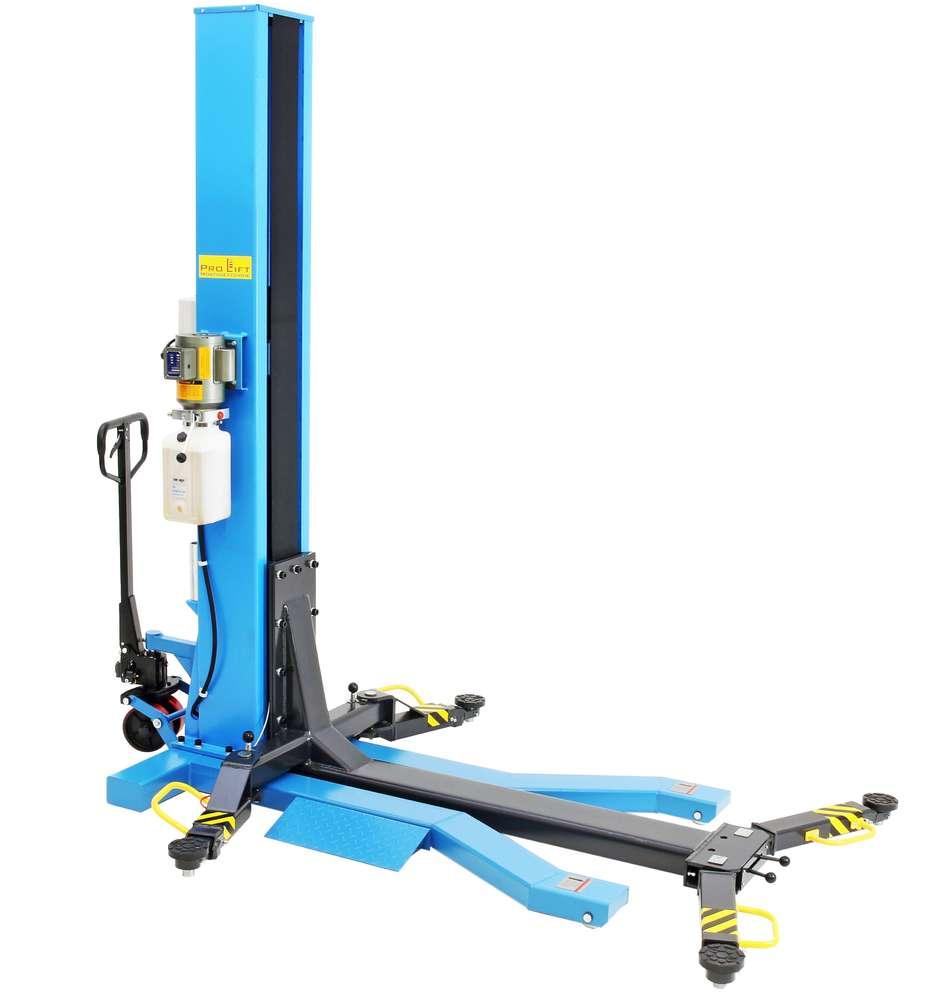 Pro-Lift-Werkzeuge 1-S/äulen-Auto-Hebeb/ühne 2,5t mobil KFZ Hebeb/ühne 2500 kg Monolift PKW S/äulenb/ühne portabel elektrohydraulisch