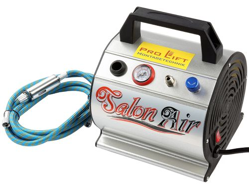 3bar Airbrush Mini Kompressor 23l/min 0,3l Kessel 1,9m Luftschlauch 230V AS176, 02509